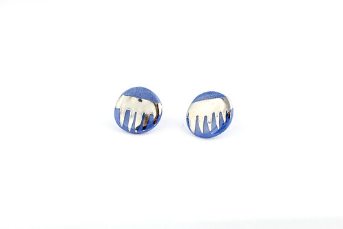 """Cobalt Silver Earrings N°1 - """"Ambiguous"""" Collection"""