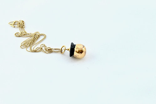 Queens Gold, black gold Bud pendant