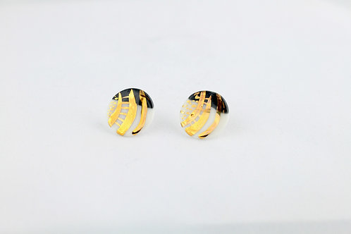 """Black Gold Earrings N°5- """"Ambiguous"""" Collection"""
