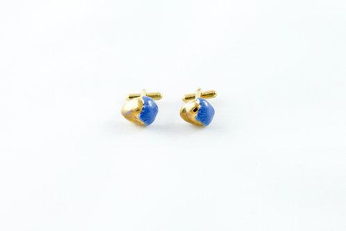 Kings Gold, cobalt blue, gold cufflinks