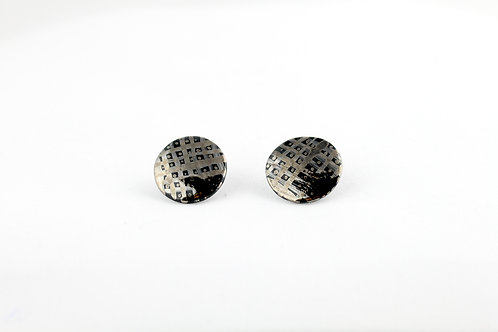 """Black Silver Earrings N°2- """"Ambiguous"""" Collection"""