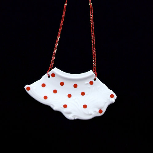 "Red Dots Necklaice - ""Broken collection"""