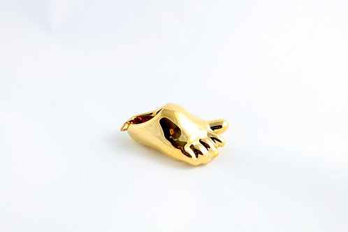 Gold Baby Foot Pendant