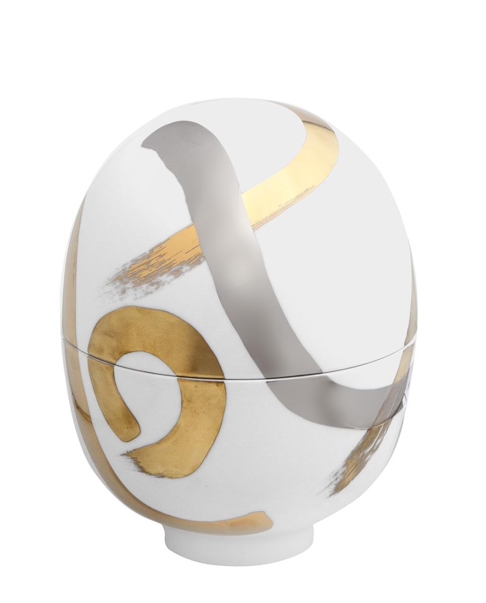 Egg Vessel Strokes Meissen