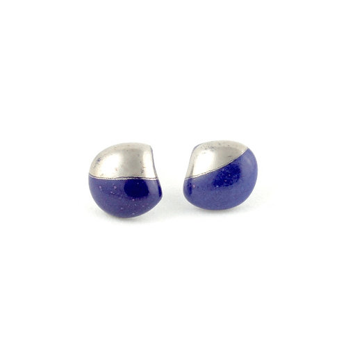 La Traviata earrings dark blue and platinum