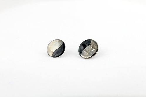 """Black Silver Earrings N°15 - """"Ambiguous"""" Collection"""