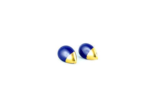 La Traviata Earrings cobalt and gold