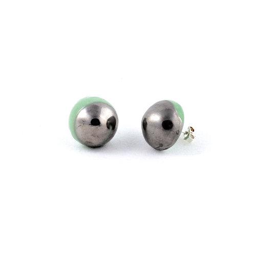 La Traviata earrings green and platinum