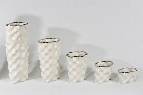 Bone White Silver Ø Wave Collection
