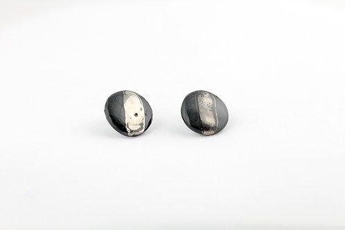 """Black Silver Earrings N°22 - """"Ambiguous"""" Collection"""