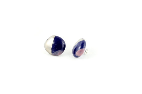 La Traviata earrings cobalt lilla platinum
