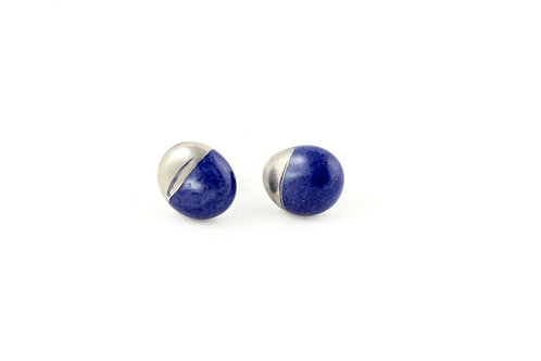 La Traviata earrings cobalt and platinum