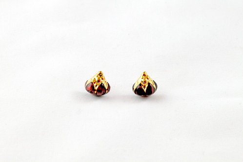 Queens Gold, marble gold earrings