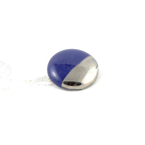 La Traviata pendant with brooch blue platinum