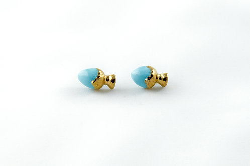 Queens Gold, blue gold earrings
