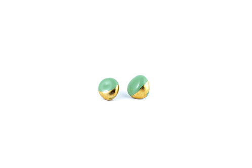 La Traviata Earrings green gold