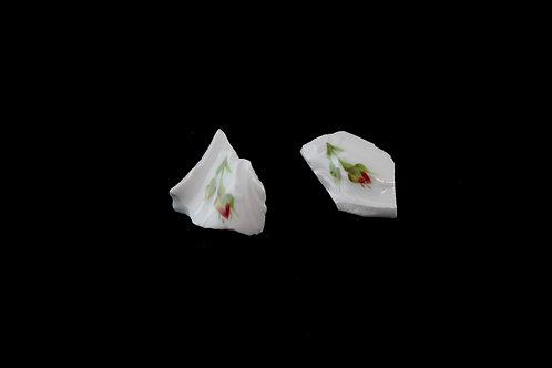 "Rose Earrings Gold Earrings N°1- ""Broken Collection""- ""Broken Collection"""