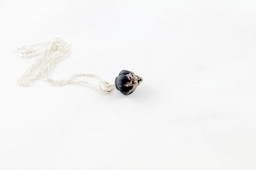 Queens Silver, black platinum pendant