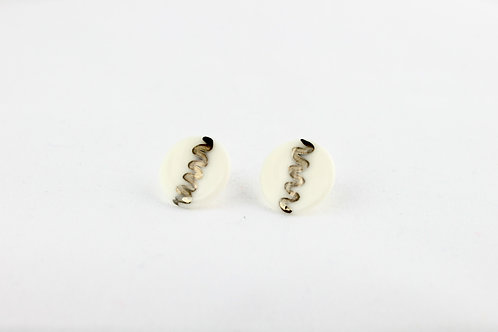 """White Silver Earrings N°5- """"Ambiguous"""" Collection"""