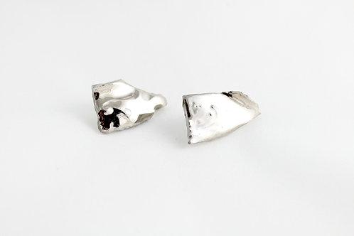"Platinum earrings N°6- ""Broken collection"""