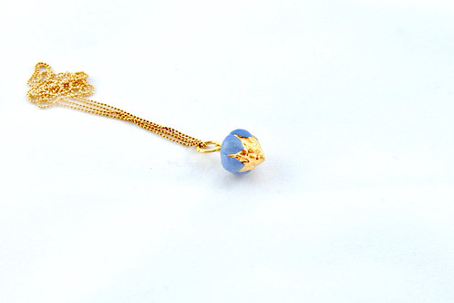 Queens Gold, blue and gold pendant