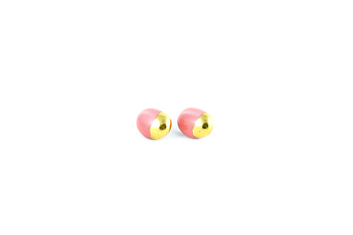 La Traviata Earrings pink and gold