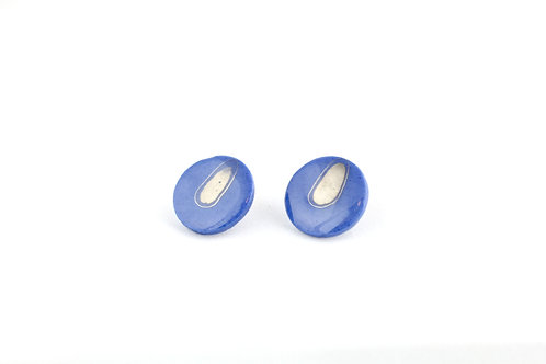 """Cobalt Silver Earrings N°3 - """"Ambiguous"""" Collection"""