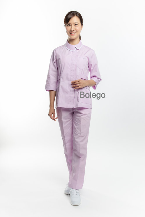 BN-011 Mid Sleeves Pants Suit (w/ white trimming details)