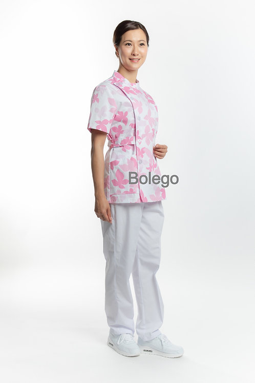 BN-012 Short Sleeves Pants Suit (with Leaves Print)