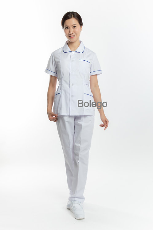 BN-009 Short Sleeves Pants Suit (w/ blue piping)