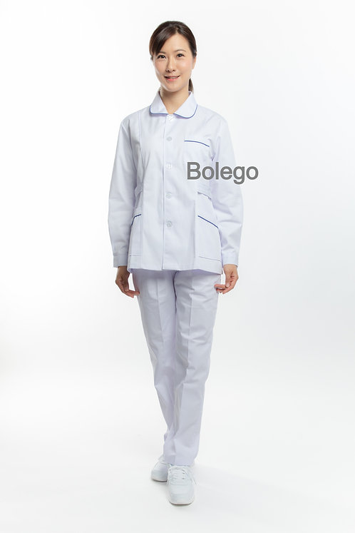 BN-010 Long Sleeves Pants Suit (w/ Blue Piping)