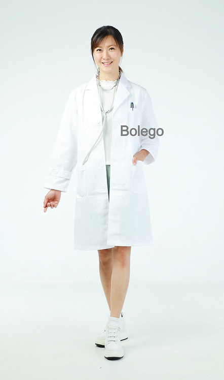 BN-020 Long Sleeves White Coat