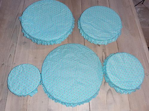 Lot couvre plat tissu enduit 9