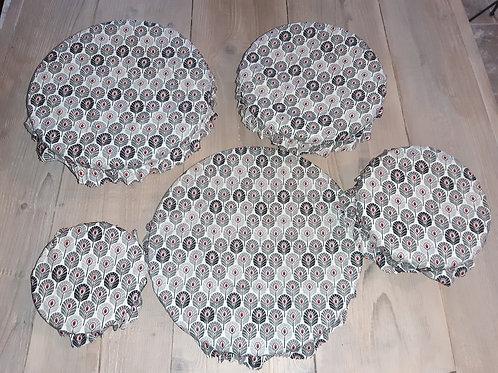 Lot couvre plat tissu enduit 6