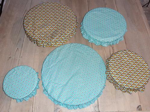 Lot couvre plat tissu enduit 16