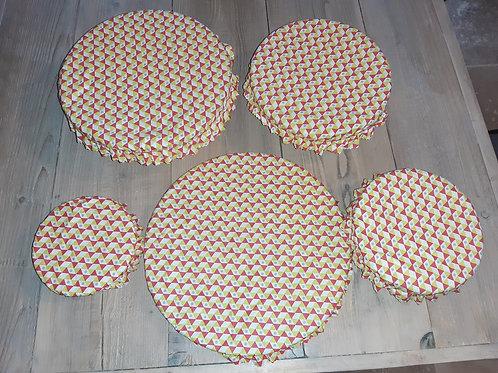 Lot couvre plat tissu enduit 14
