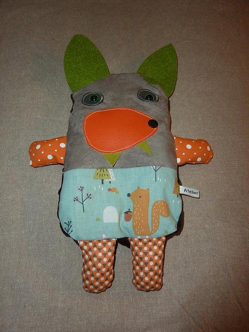 Doudou bouillotte 72 (loup)