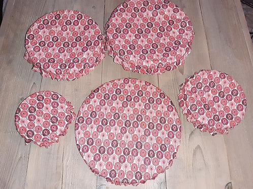Lot couvre plat tissu enduit 24