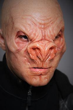 special effects makeup. special makeup effects. prosthetic makeup. alien. bald cap