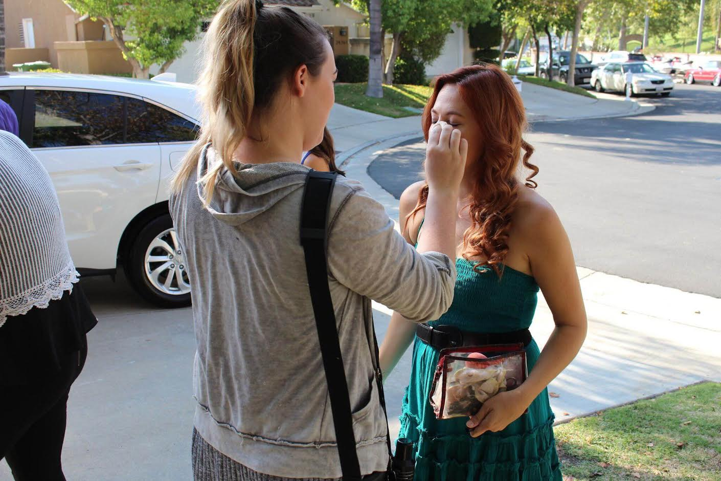 Touch Ups on Set of Stay At Home Mom