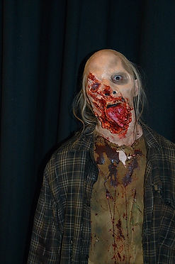 special effects makeup. special makeup effects. prosthetic makeup. wound. blood and gore. zombie. walking dead