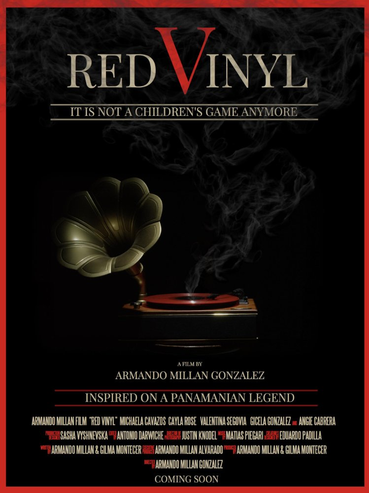 Red Vinyl Movie Poster