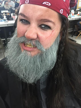 special effects makeup. special makeup effects. prosthetic makeup. beard. facial hair