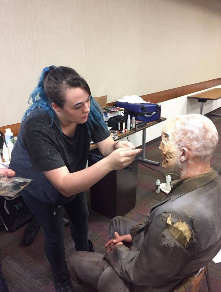 Zombie Makeup Application