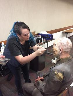 Zombie Makeup Application