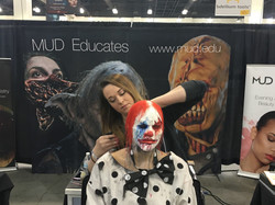 Clown Makeup for Monsterpalooza 2016