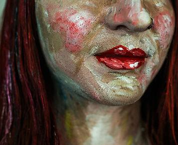 avant garde. makeup. living art. art. painting. paint. body painting. face painting