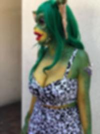 greta gremlin ComicCon 2018 Cosplay Makeup