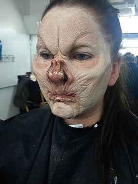 special effects makeup. special makeup effects. prosthetic makeup. bat. demon