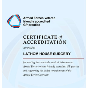 We're an Accredited Armed Forces Veteran Friendly Practice!